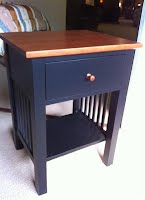 Shaker Nightstand Black